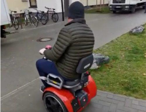 Probefahrt mit dem Freee – Rollstuhl auf Segway-PT-Basis
